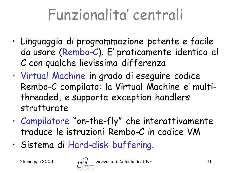 Funzionalita' centrali