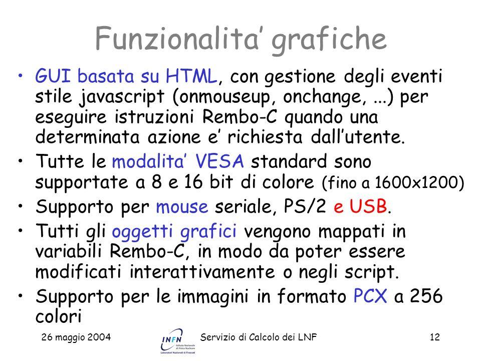 Funzionalita' grafiche