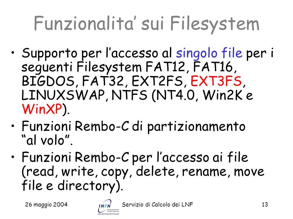 Funzionalita' sui Filesystem