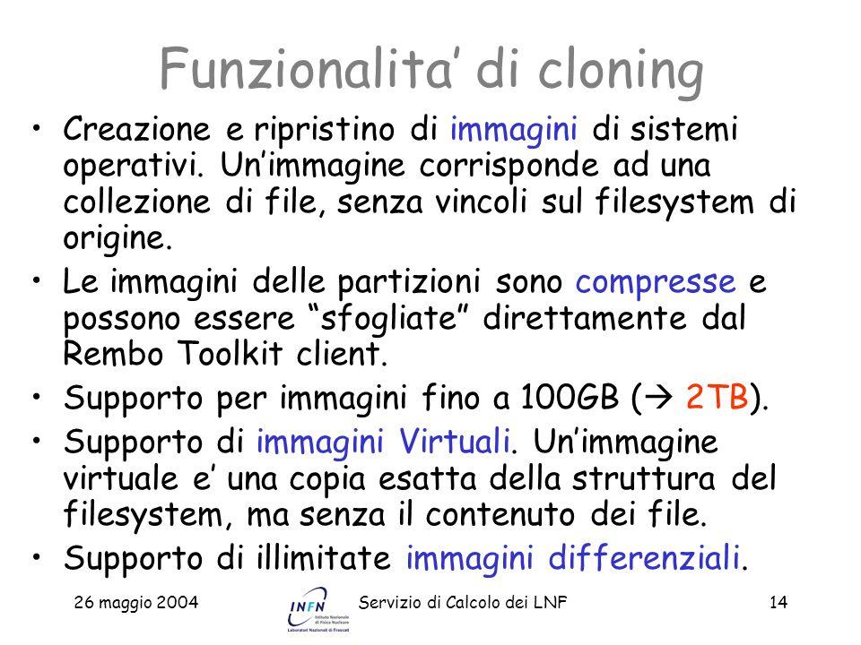 Funzionalita' di cloning