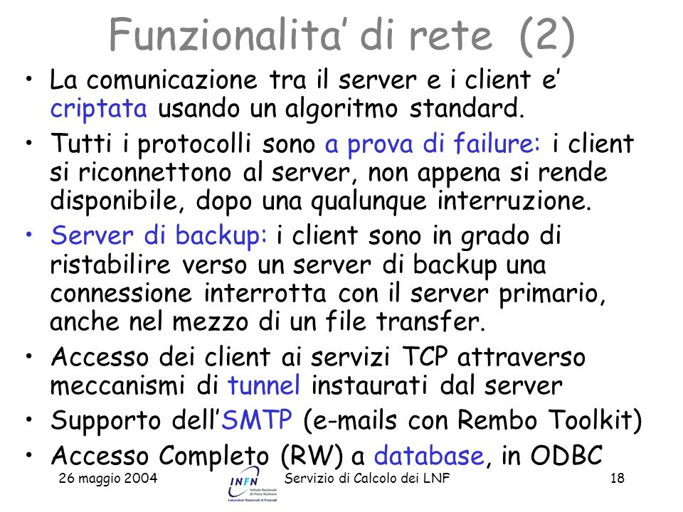 Funzionalita' di rete (2)