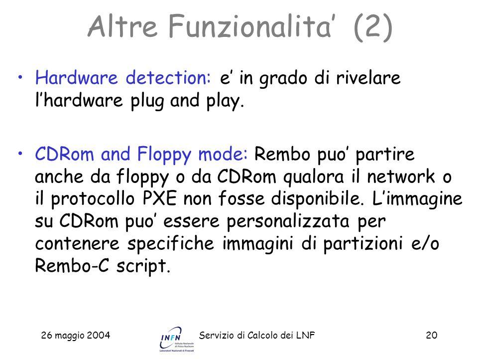 Altre Funzionalita' (2)