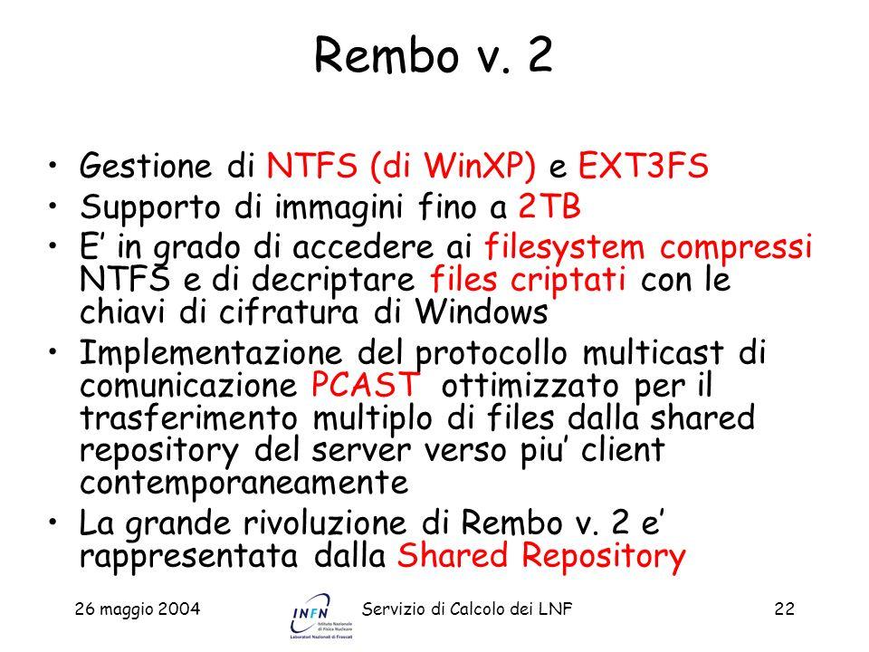 Rembo v. 2 Gestione di NTFS (di WinXP) e EXT3FS
