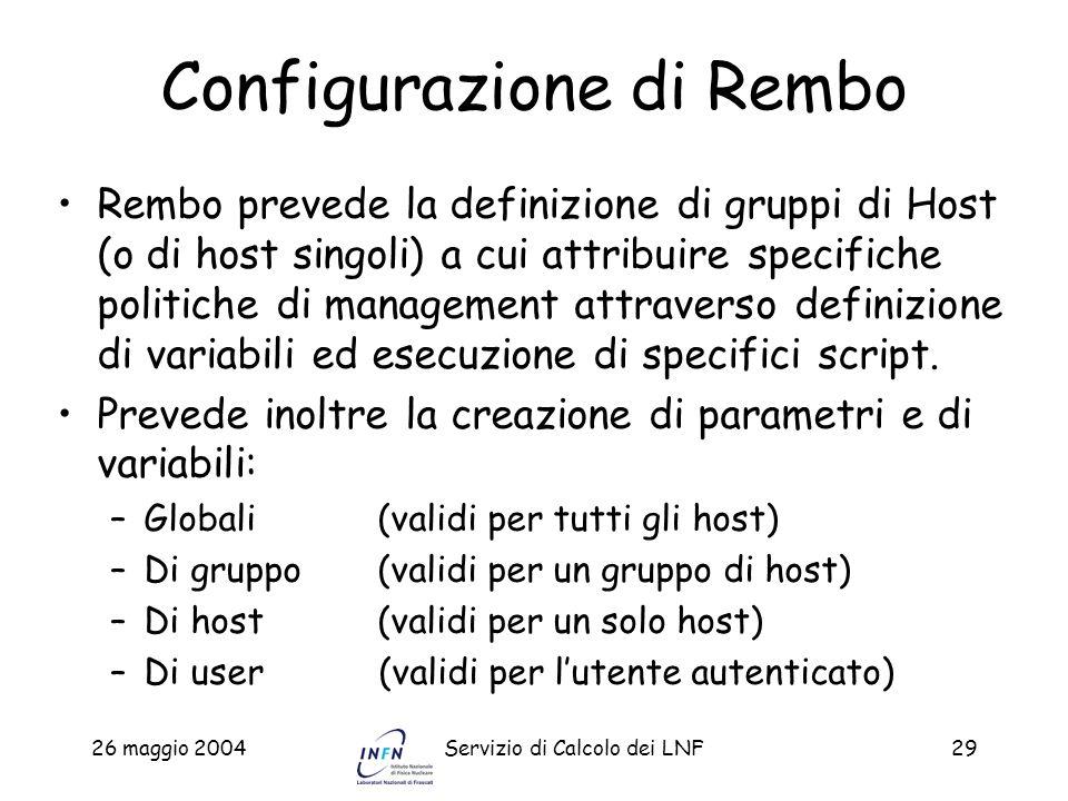Configurazione di Rembo