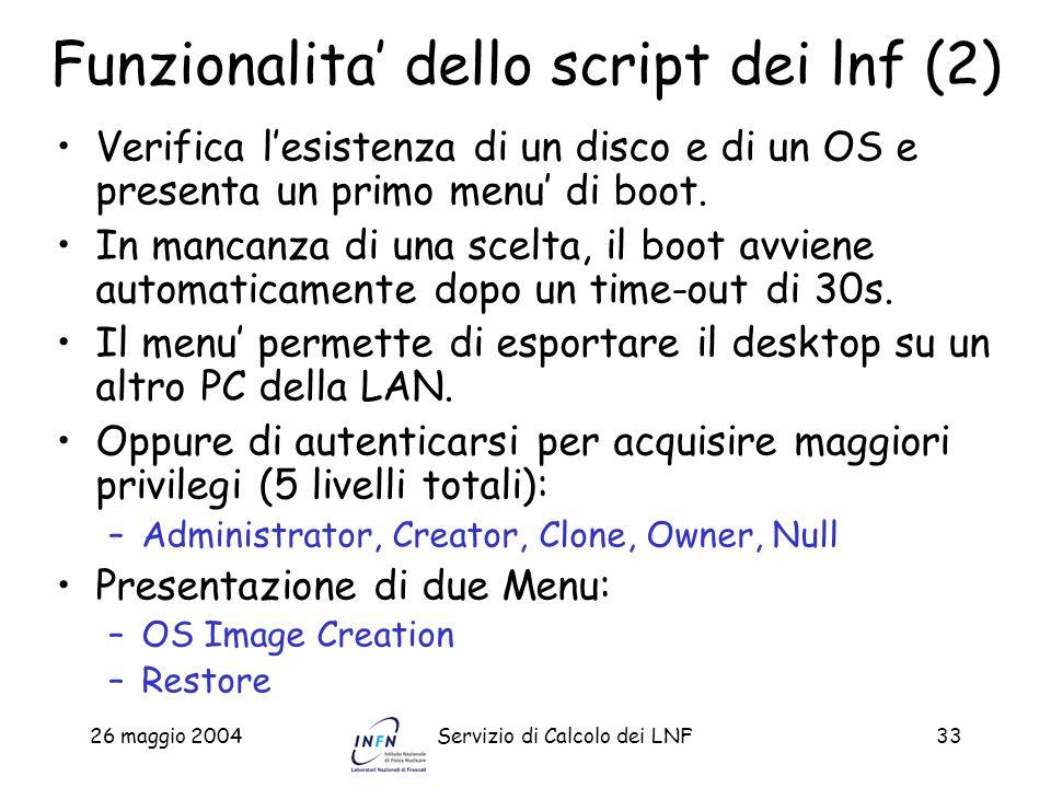 Funzionalita' dello script dei lnf (2)