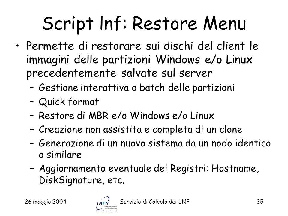Script lnf: Restore Menu