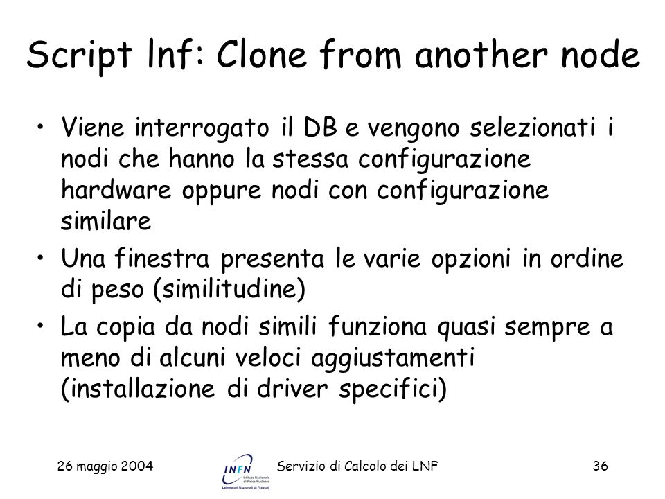 Script lnf: Clone from another node