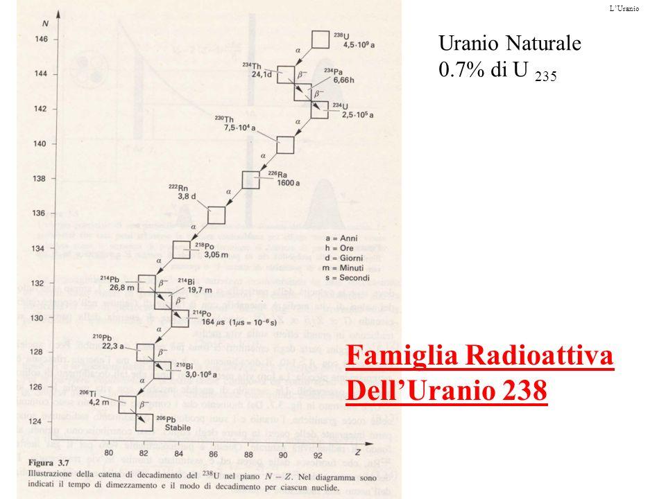 Famiglia Radioattiva Dell'Uranio 238 Uranio Naturale 0.7% di U 235