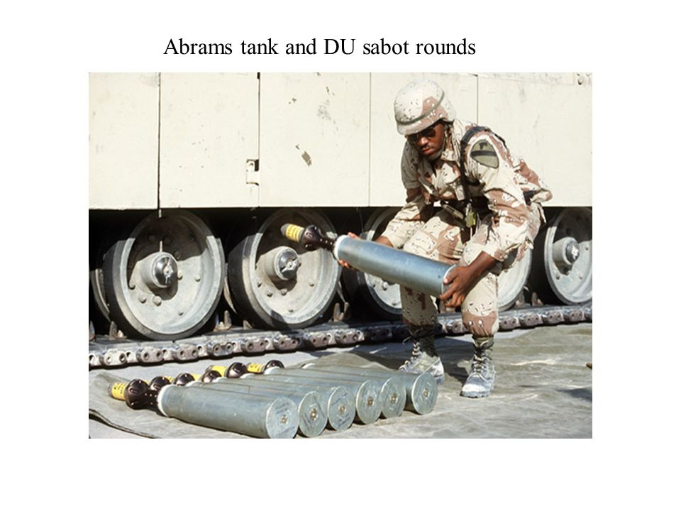 Abrams tank and DU sabot rounds