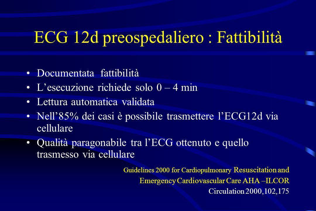 ECG 12d preospedaliero : Fattibilità