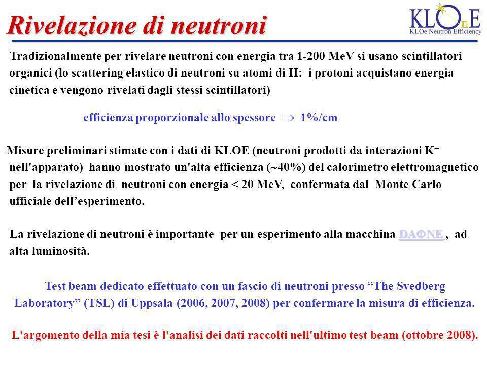 Rivelazione di neutroni