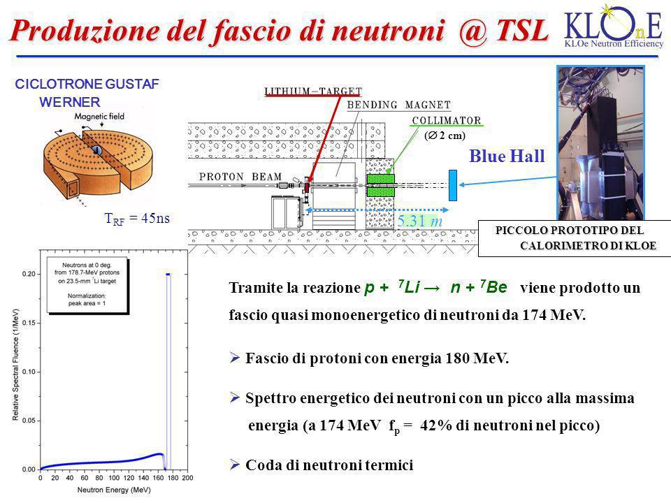 Produzione del fascio di neutroni @ TSL