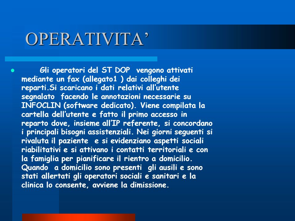 OPERATIVITA'
