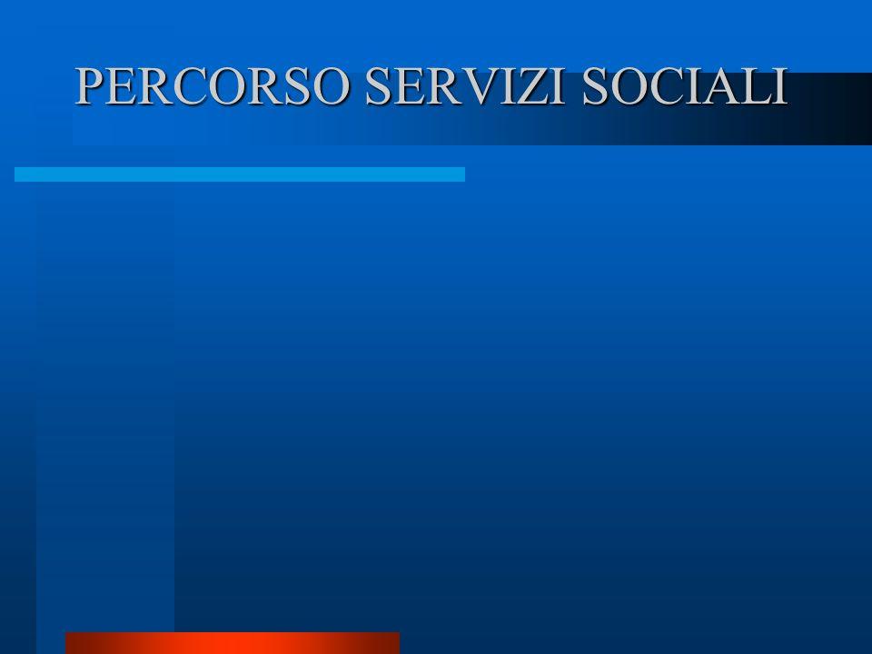 PERCORSO SERVIZI SOCIALI