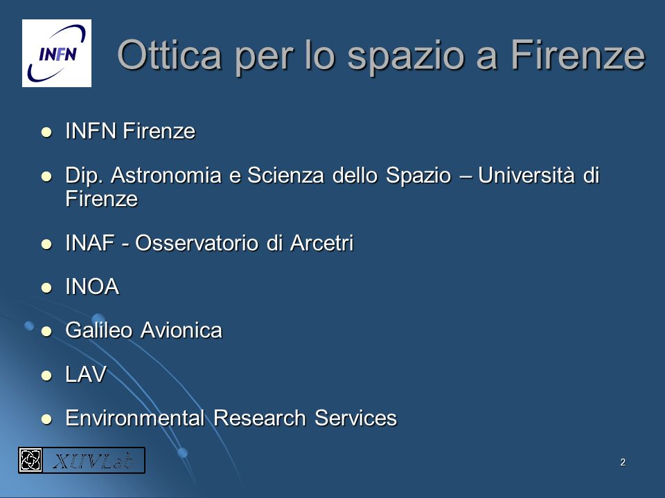 Ottica per lo spazio a Firenze