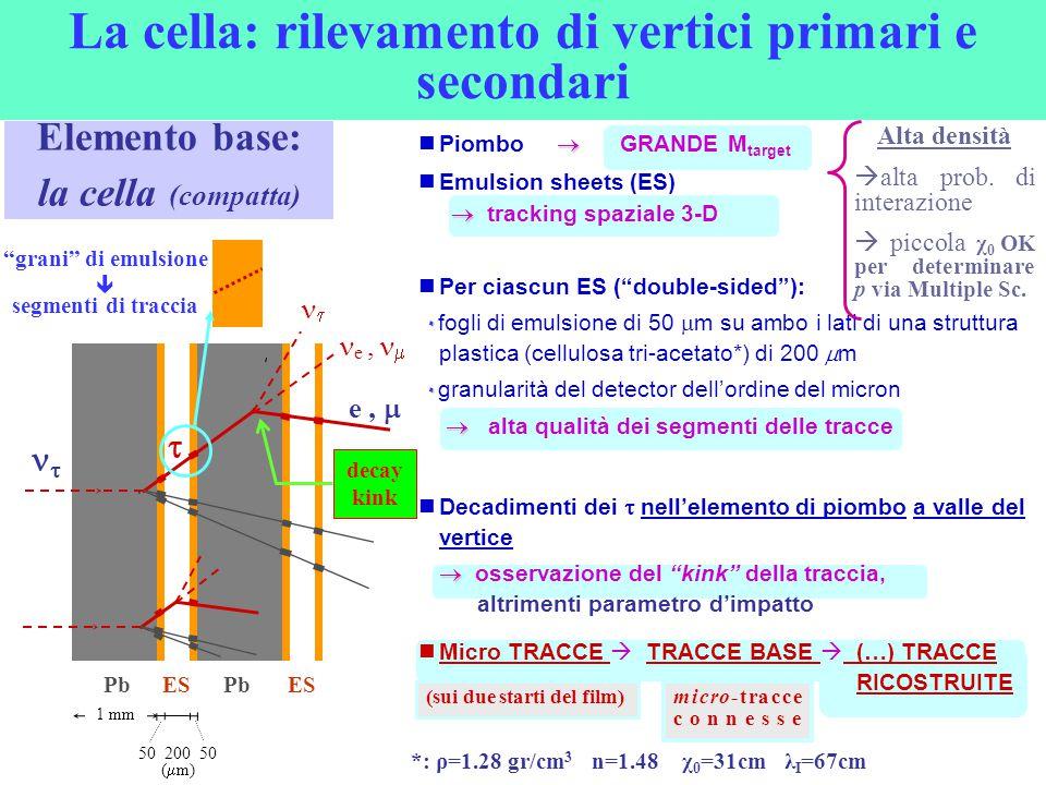 La cella: rilevamento di vertici primari e secondari