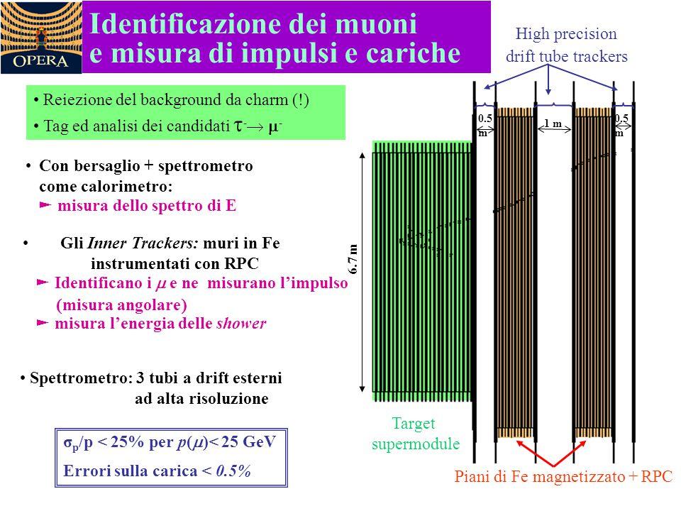 Identificazione dei muoni e misura di impulsi e cariche