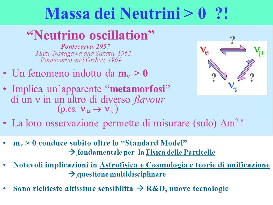 Massa dei Neutrini > 0 !
