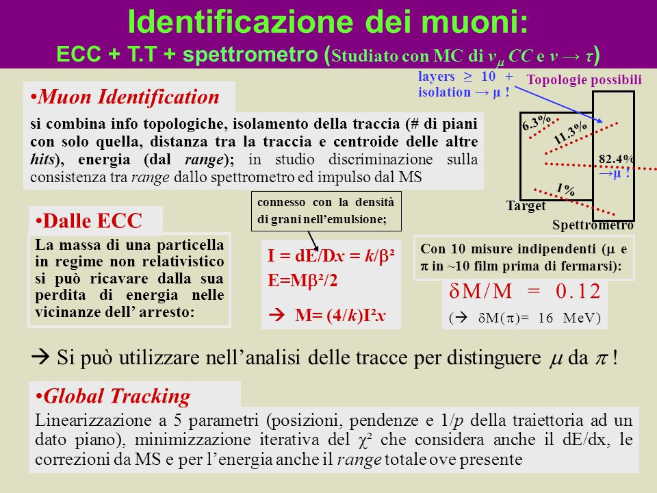 Identificazione dei muoni: ECC + T