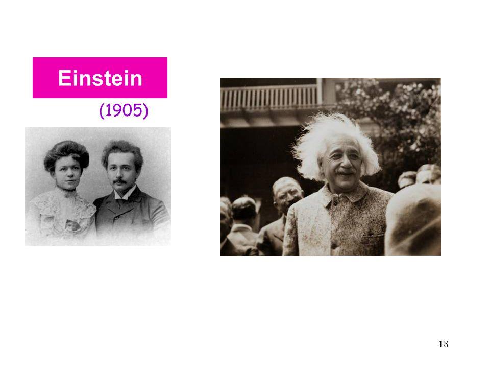 Einstein (1905) Soluzione 2 al risultato nullo dell'esperimento M &M : Relatività Speciale di Einstein.