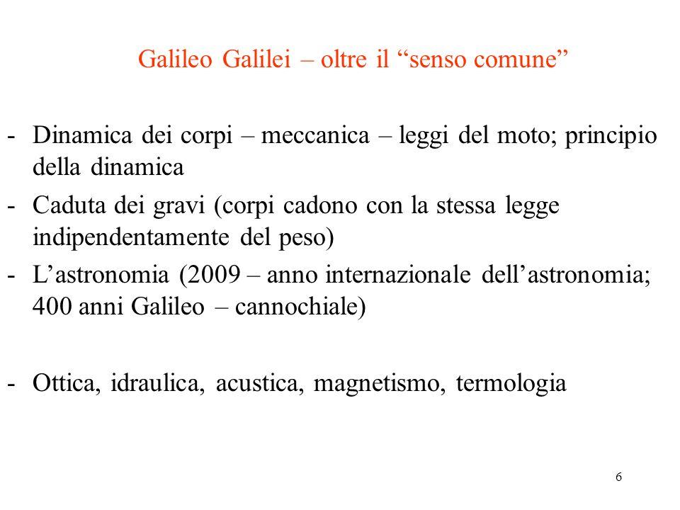 Galileo Galilei – oltre il senso comune