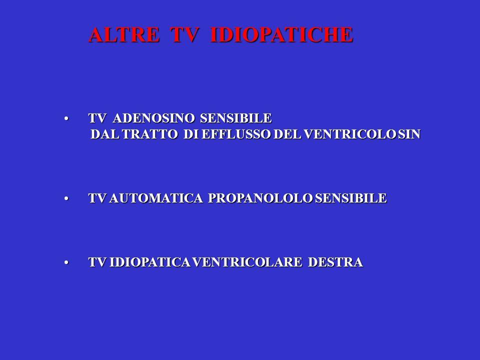 ALTRE TV IDIOPATICHE TV ADENOSINO SENSIBILE