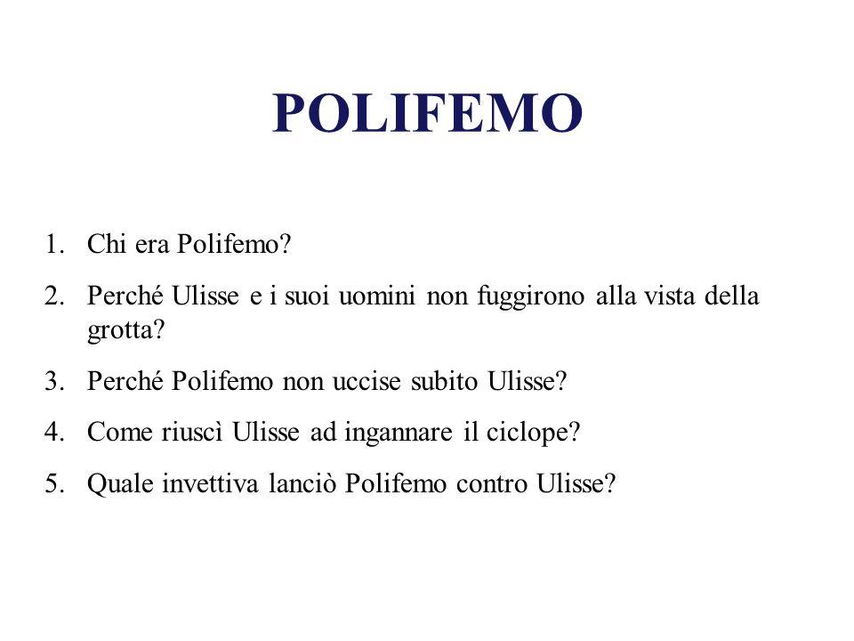 POLIFEMO Chi era Polifemo