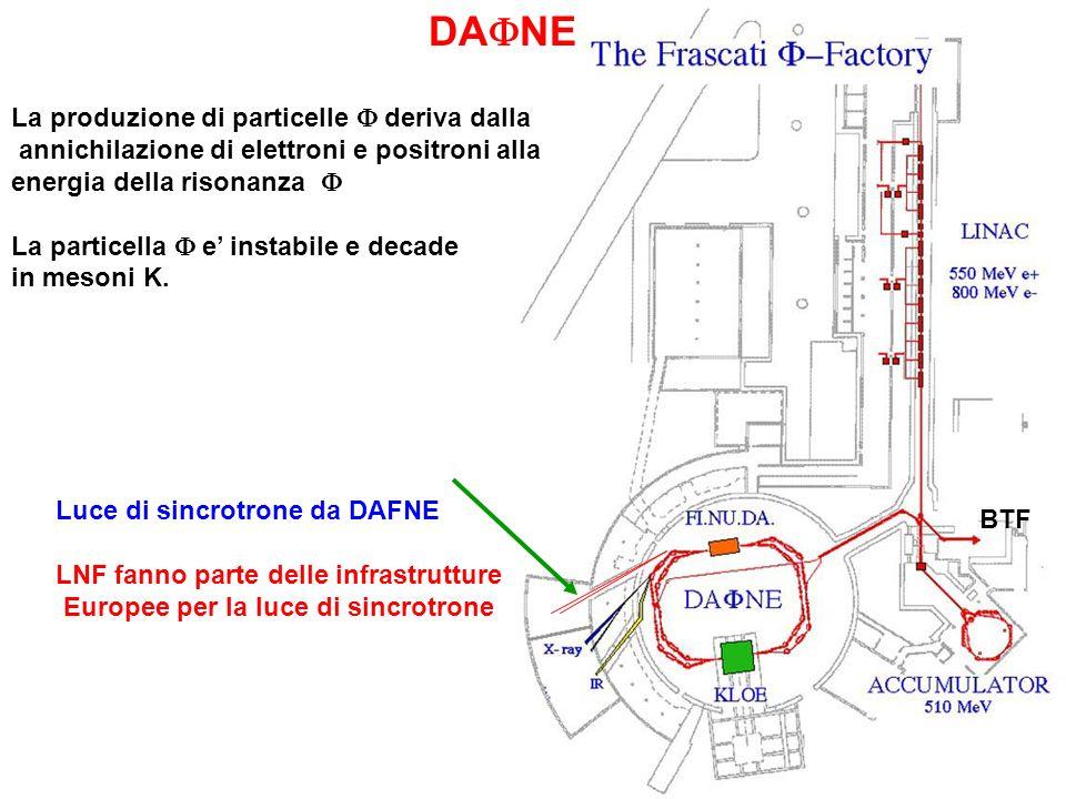 DAFNE La produzione di particelle F deriva dalla