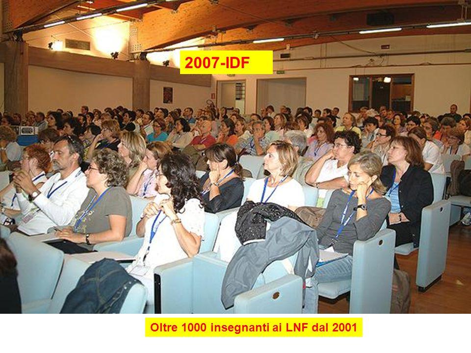 2007-IDF Oltre 1000 insegnanti ai LNF dal 2001