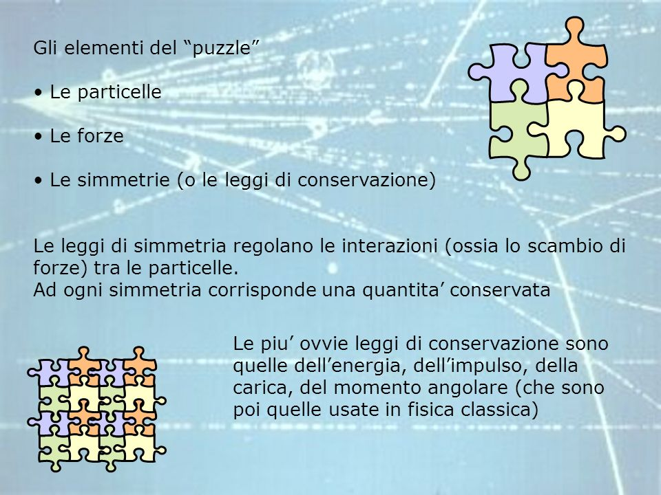 Gli elementi del puzzle