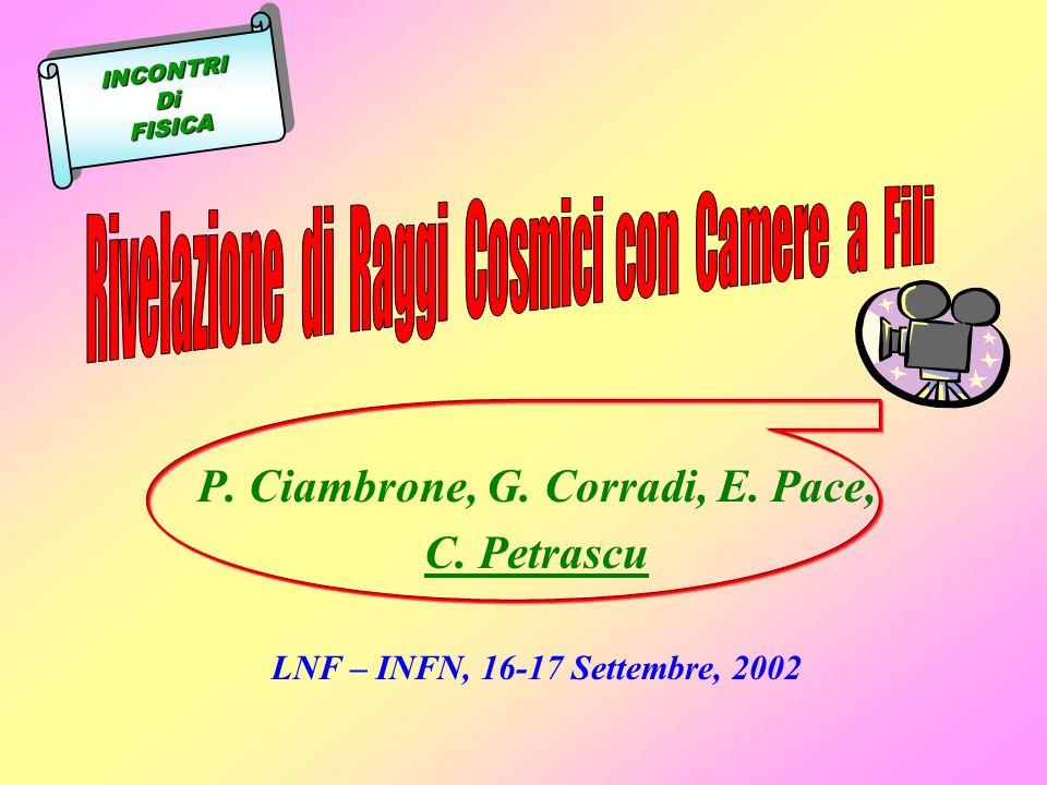 P. Ciambrone, G. Corradi, E. Pace,