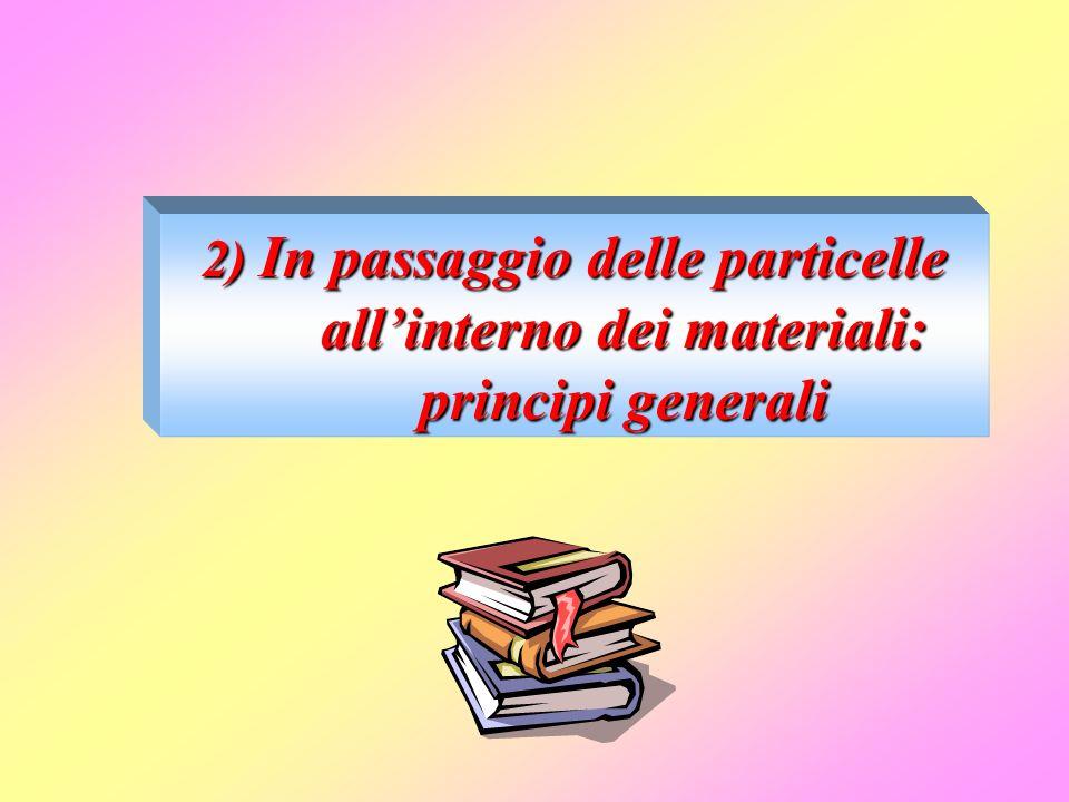 2) In passaggio delle particelle all'interno dei materiali: principi generali