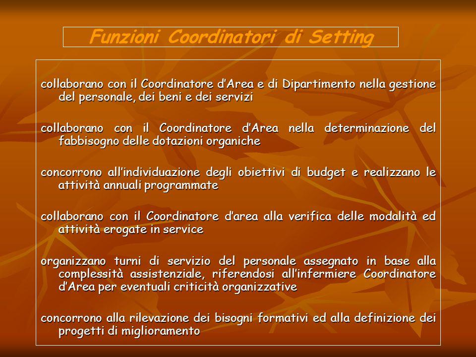 Funzioni Coordinatori di Setting