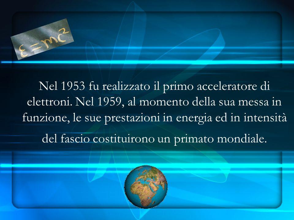Nel 1953 fu realizzato il primo acceleratore di elettroni