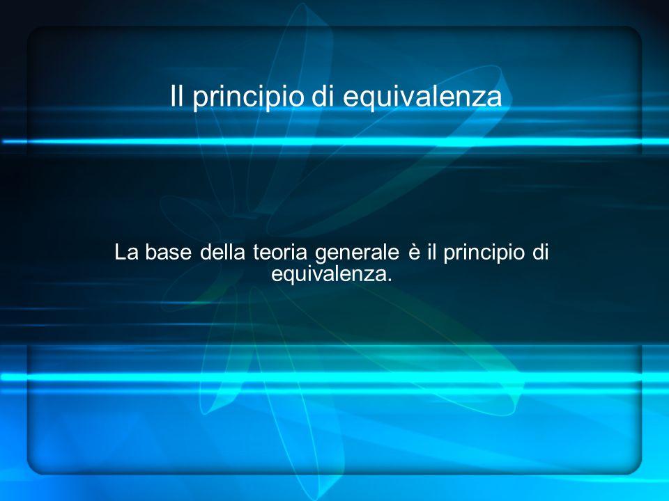 Il principio di equivalenza