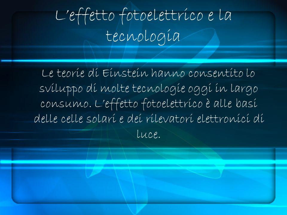 L'effetto fotoelettrico e la tecnologia
