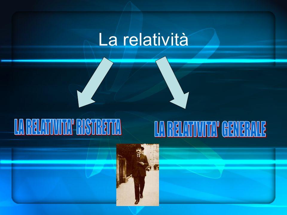 La relatività LA RELATIVITA RISTRETTA LA RELATIVITA GENERALE