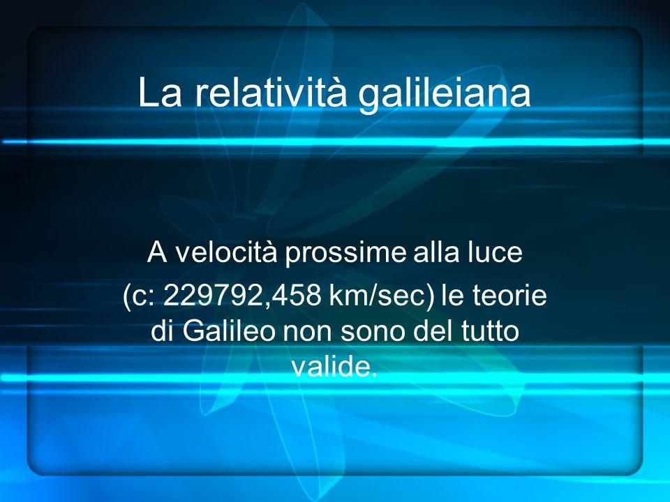 La relatività galileiana