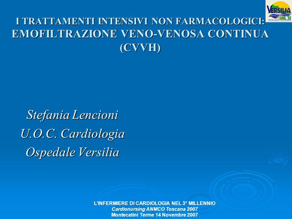 Stefania Lencioni U.O.C. Cardiologia Ospedale Versilia