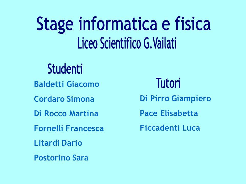 Stage informatica e fisica