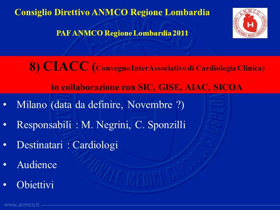 8) CIACC (Convegno InterAssociativo di Cardiologia Clinica)