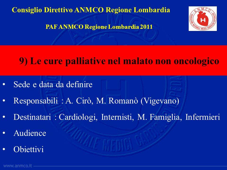 9) Le cure palliative nel malato non oncologico