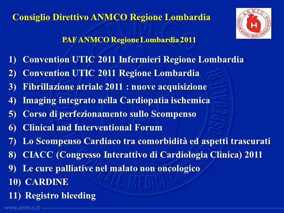 Consiglio Direttivo ANMCO Regione Lombardia