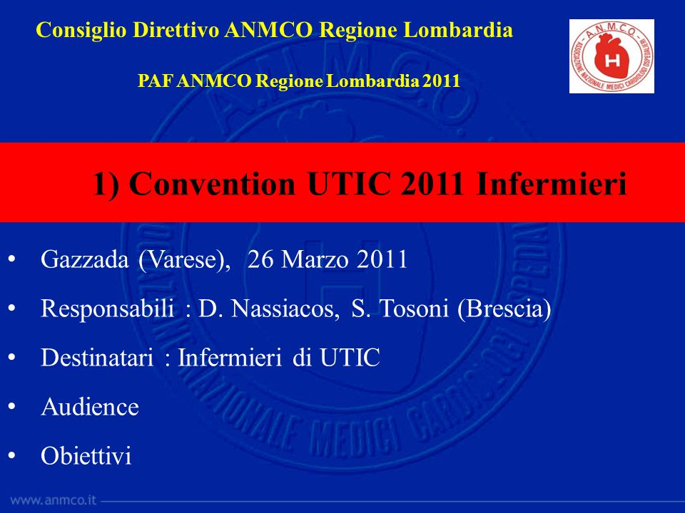 1) Convention UTIC 2011 Infermieri