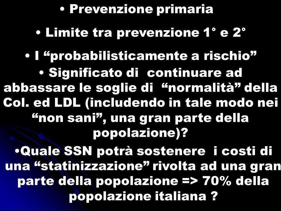 Limite tra prevenzione 1° e 2°