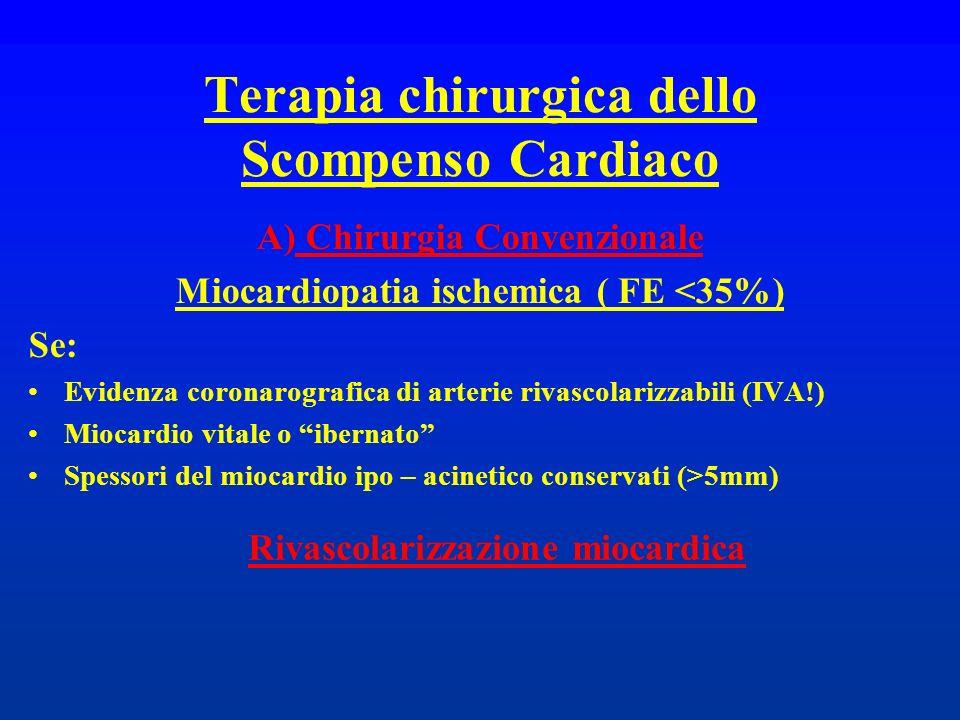 Terapia chirurgica dello Scompenso Cardiaco
