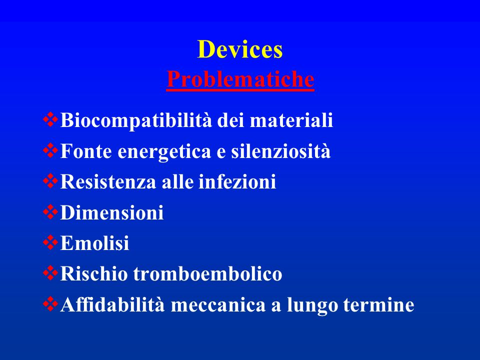 Devices Problematiche
