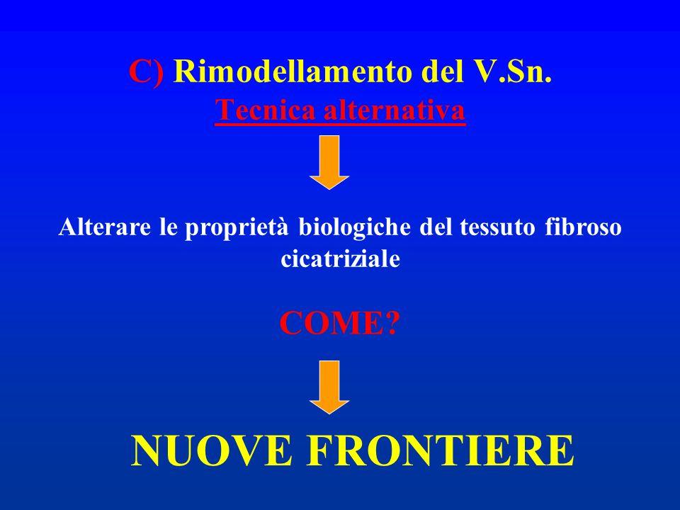 C) Rimodellamento del V.Sn. Tecnica alternativa