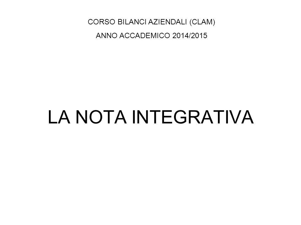 CORSO BILANCI AZIENDALI (CLAM)