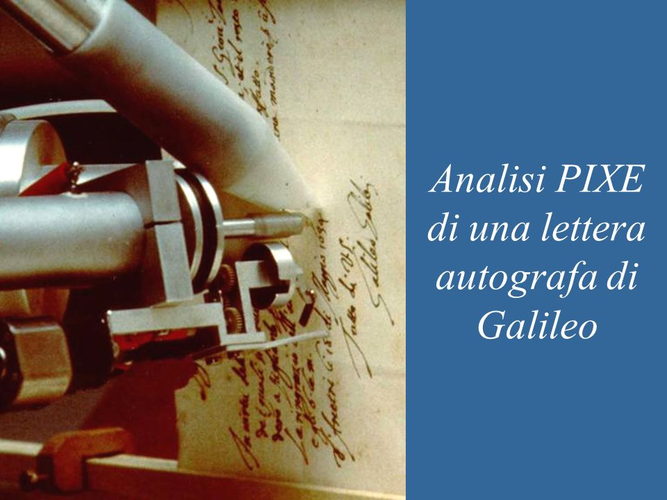 Analisi PIXE di una lettera autografa di Galileo